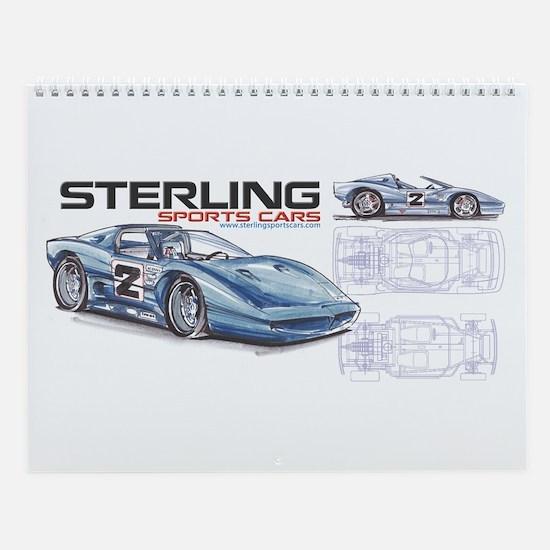 Sports Cars Wall Calendar