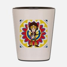 Funky Hippie Rock Star Shot Glass