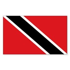 Trinidad & Tobago flag Rectangle Decal