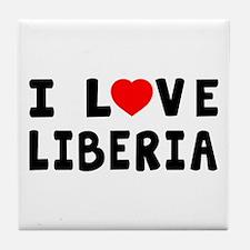 I Love Liberia Tile Coaster