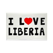 I Love Liberia Rectangle Magnet