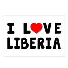 I Love Liberia Postcards (Package of 8)