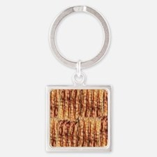 Bacon Square Keychain