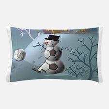 Soccer Christmas Snowman Pillow Case