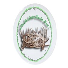Antler Huntin Fool Oval Ornament