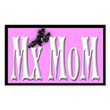 Mx MoM white, pink, black Rectangle Decal