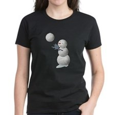 Volleyball Snowman Christmas Tee