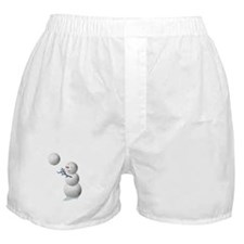 Volleyball Snowman Christmas Boxer Shorts