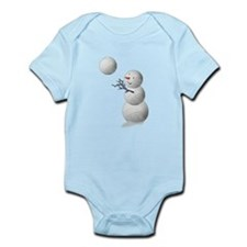 Volleyball Snowman Christmas Infant Bodysuit