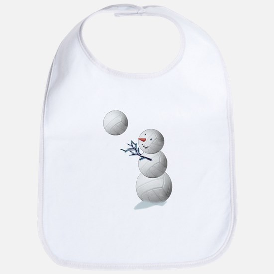 Volleyball Snowman Christmas Bib