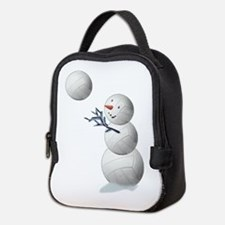 Volleyball Snowman Christmas Neoprene Lunch Bag