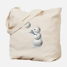Volleyball Snowman Christmas Tote Bag