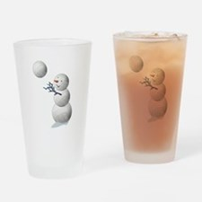 Volleyball Snowman Christmas Drinking Glass