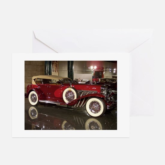 Big Red Car Greeting Cards