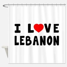I Love Lebanon Shower Curtain