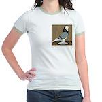 Blue Bald West Jr. Ringer T-Shirt