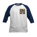 Blue Bald West Kids Baseball Jersey