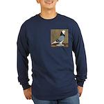 Blue Bald West Long Sleeve Dark T-Shirt