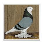 Blue Bald West Tile Coaster