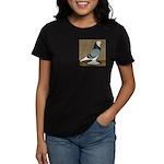 Blue Bald West Women's Dark T-Shirt