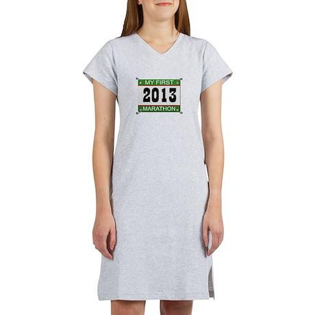 My First Marathon Bib - 2013 Women's Nightshirt