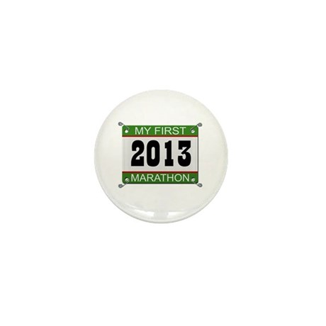 My First Marathon Bib - 2013 Mini Button