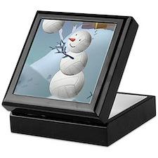 Volleyball Snowman Christmas Keepsake Box