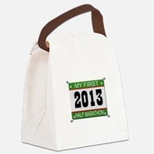 My First 1/2 Marathon - 2013 Canvas Lunch Bag