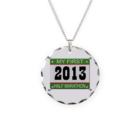 My First 1/2 Marathon - 2013 Necklace Circle Charm