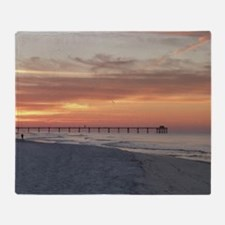 Ft. Fort Walton Beach Pier Florida S Throw Blanket