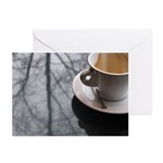 Macchiato at Caffe Umbria Greeting Cards (Package