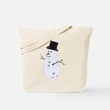 Bowling Christmas Snowman Tote Bag