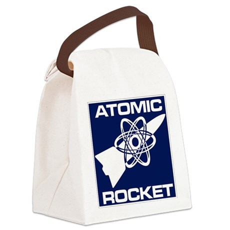 Atomic Rocket Journal Canvas Lunch Bag