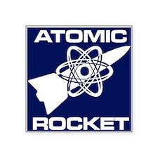 "Atomic Rocket Journal Square Sticker 3"" x 3"""