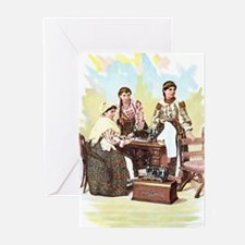 """Vintage Romania"" Greeting Cards (Pk of 10)"