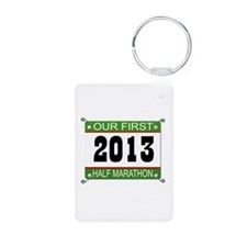 Our First 1/2 Marathon Bib - 2013 Keychains