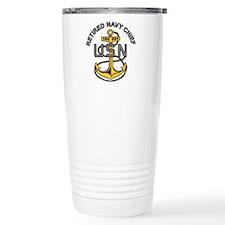 Cute Retired navy wife Travel Mug