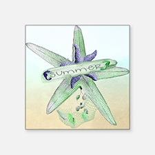 "Sealife Starfish Square Sticker 3"" x 3"""
