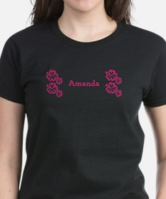 Pink Floral Hibiscus Reveal Custom Name 23 T-Shirt