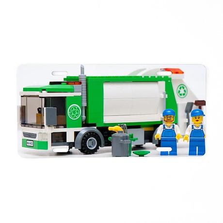 garbage truck blocks Aluminum License Plate