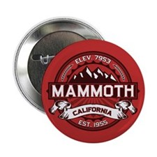 "Mammoth Red 2.25"" Button"