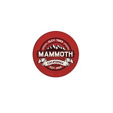 Mammoth Red Mini Button