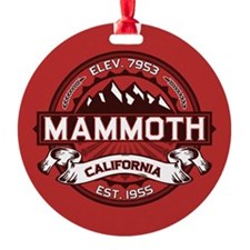 Mammoth Red Round Ornament