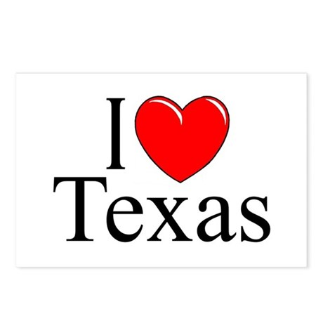 """""""I Love Texas"""" Postcards (Package of 8)"""