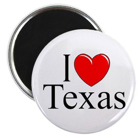 """""""I Love Texas"""" Magnet"""
