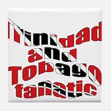 Trinidad flag fanatic Tile Coaster