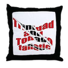 Trinidad flag fanatic Throw Pillow