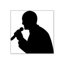 Man With Mic Silhouette Sticker