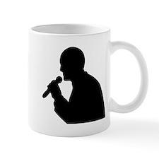 Man With Mic Silhouette Mugs