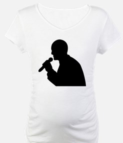 Man With Mic Silhouette Shirt